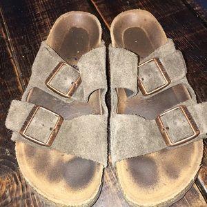 Birkenstock Shoes - Birkenstock's - brown suede Arizona size 37
